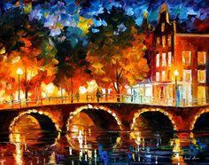 AMSTERDAM - OLD BRIDGE - LEONID AFREMOV by Leonidafremov.deviantart.com on @deviantART