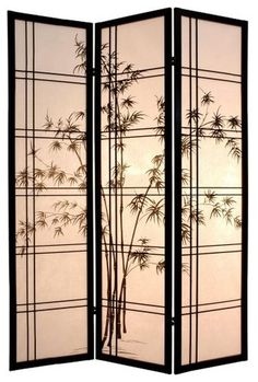 The Bamboo Tree Room Divider brings Asian inspiration to your room decor.