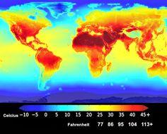 NASA heat map forecast for 2100