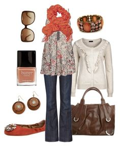 """""""coral floral"""" by htotheb ❤ liked on Polyvore featuring Apepazza, Vero Moda, Tosca Blu, Gucci, Levi's Made & Crafted, Daytrip, Fantasy Jewelry Box, Decree, Butter London and coral"""