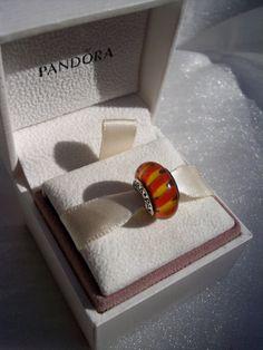 Authentic Pandora Orange Zig Zag Stripe Retired  by JEWELSELAGANT, $30.00