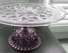 Amethyst Violet / Vintage Cake Stands  from The Roche Studio