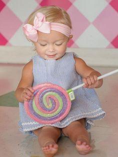 Childrens Clothing-RuffleButts Blue & White Swing open back top  see matching RuffleButt bloomers