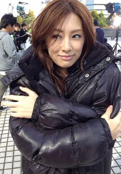 Keiko Kitagawa, in public! Beautiful Asian Girls, Beautiful Women, Julia Kyoka, Keiko Kitagawa, Black Down, Puffy Jacket, Beautiful Actresses, Asian Beauty, Cool Girl