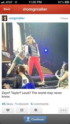 Zayn, Taylor, Louis? The world may never know.....