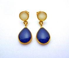 Blue Earrings, Bridal Earrings, Dangle Earrings, Teardrop Ring, Teardrop Necklace, Matching Rings, Turquoise Rings, Minimalist Jewelry, Retail Therapy