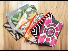 """How to make Zippered Pouches using 10"""" squares - Quilting Tips & Techniques 175 - YouTube"""