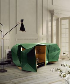 Diamond Emerald Sideboard Exclusive Furniture boca do lobo Sideboard Design, Buffet Design, Modern Sideboard, Sideboard Ideas, Modern Buffet, Sideboard Table, Console Tables, Cabinet Design, Interior Design Magazine