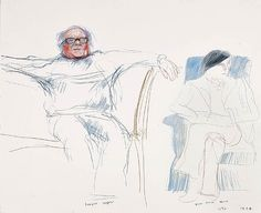 David Hockney, Douglas Cooper and Yves Marie Herve
