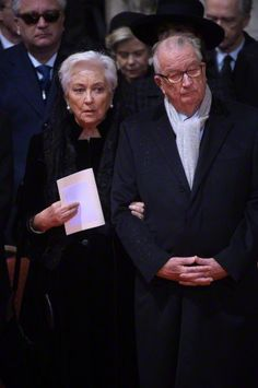 Queen Paola, December 12, 2014 | Royal Hats attends funeral of Queen Fabiola of Belgium
