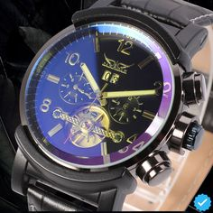 (52.00$)  Watch more here - http://ailfp.worlditems.win/all/product.php?id=32799646014 - JARGAR Fashion Hot Sale Automatic Watch Best Gift for Man Hot Sale 5 Hands Strap Band with Original Box
