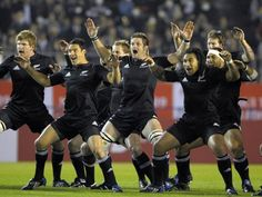 ahahah this still of the New Zealand Rugby team is awesome ~}~~~~~~~} The Haka. Absolute perfection and dream of mine actually see live at a match