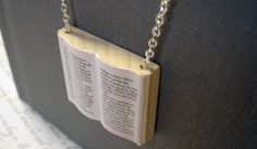 Alice in Wonderland Modern Mini Wooden Book by BookishCharm = Awesome (I would wear this everywhere)