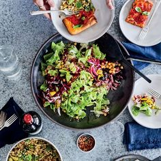Antipasto Chopped Salad | There is something naughty—and really delicious—about eating a green salad studded with rich nuggets of cheese and salami. META Chef Brooks Reitz's Antipasto Chopped Salad gets a flavor boost from provolone cheese and salami. Find the recipe at Food & Wine.