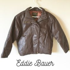 ⚡️Flash Sale⚡️NWOT Vintage Eddie Bauer M Bomber NWOT Vintage Eddie Bauer goose-down leather bomber jacket, brown. Size Small. The warmest jacket for the winter months! Eddie Bauer Jackets & Coats Utility Jackets