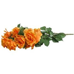 "This lush Orange Alice Rose Bush with 8 Blooms is perfect for use in floral and greenery arrangements and more. The lifelike appearance and low maintenance make this bush a perfect complement to any arrangement.    	Size: eight 4"" blooms; 25"" in total height including stem; width to vary depending upon shaping and arrangement."