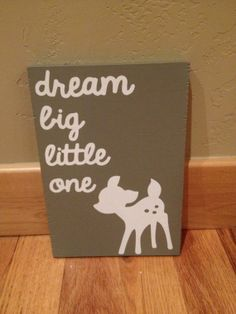 Dream Big Little One Baby Nursery wooden by SwirlyTwirlyDesigns, $30.00