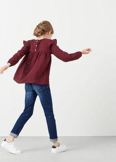 Camisa algodón volantes -  Niños | MANGO Kids España