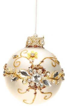 Mark Roberts Christmas Ornaments | King's Jewel Collection | Jeweled Ornaments | Pearl Ornament | 36-43988