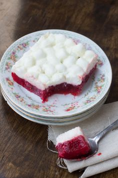 Raspberry Jello Salad . . . our favorite . . . we make it every Christmas!