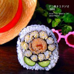 『ひまわり』の飾り巻き寿司  デコ巻き/飾り巻き寿司/ひまわり  かんぴょうぐるぐるがお気に入り◡̈♥︎