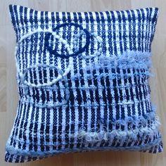 Handwoven cotton cushion.