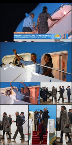 Obamas return from Hawaii Monday January 2, 2017