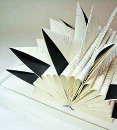 Folded Book Sculpture.