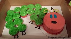 The Very Hungry Caterpillar Cupcake Cake ~ A Cup Cake Recipe