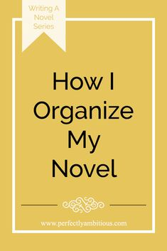 Are you planning on writing a novel? Click on the link to see how I organize my novel with a plot board!