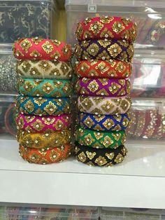 You can play around with Airbrush Makeup System higher pressure and get things done more quickly over time. Silk Thread Bangles Design, Silk Bangles, Bridal Bangles, Bridal Jewelry, Fancy Jewellery, Thread Jewellery, Jewellery Making, Textiles, Jewelry Patterns