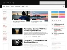 JustWrite – Free WordPress Theme