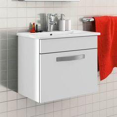 meuble suspendu pour salle de bain quip dun tiroir et dune armoire - Une Salle De Bain Est Equipee Dune Vasque