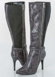 Wide Width Wide Calf Sleek Snake Over The Knee Boot-Wide Width Women's Shoes-Ashley Stewart