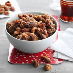 Slow Cooker Spiced Mixed Nuts Recipe -What slow cookers do for soups and stews, they'll do for mixed nuts, too. The scent of spices is delightful, and the nuts are delicious. —Stephanie Loaiza, Layton, Utah