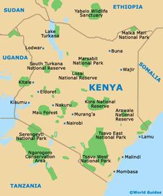 map of kenya with cities   Google Search | MAPS | Pinterest