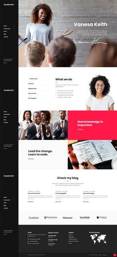 Designed to meet your needs, Academist WordPress theme is perfect for your education website. website Academist - Professor Home Web Design Basics, Web Design School, Best Web Design, Page Design, Website Design Layout, Website Design Inspiration, Layout Design, Website Designs, Website Themes