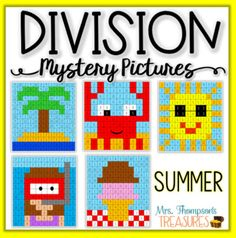 Your students will love discovering the summer themed pictures as they review one digit division problems (1-12). ⭐ Great for end of the year or summer school! ⭐ Students will complete the division problems and then use the answers as the key to create the pictures!⭐Engaging but not overwhelming! ...