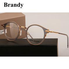 b382ed6294 2017 Brandy thom browne eyeglasses TB 807 Retro round frame prescription eyewear  frames Reading eyeglasses frame oculos de grau-in Eyewear Frames from Men s  ...