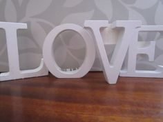 Shabby Chic Wooden Painted 11cm Free Standing Letters-LOVE www.upsiedaisy.co.uk