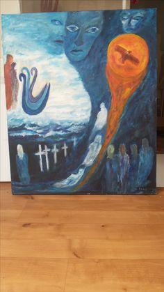 Eerste schilderij na Frans zijn dood.