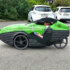 My brother in his IT consultant company vehicle. #IT #orca #velomobile #bike