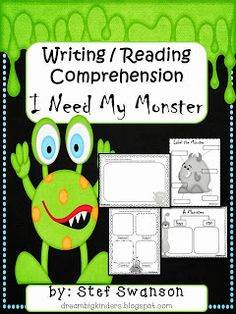 Writer's Workshop with a twist! I Need my Monster writing and reading activities! click on the picture to get a FREEBIE!! dreambigkinders.blogspot.com