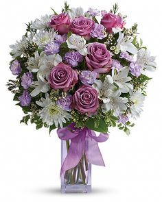Order Teleflora's Lavender Laughter Bouquet - Teleflora's Lavender Laughter Bouquet from Arlington Florist, your local Arlington florist. For fresh and fast flower delivery throughout Arlington, TN area.