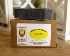 African Black Soap ( Ose Dudu ) has been prized for centuries for it's natural healing abilities. This gentle soap is highly sought after for it's lather, detoxification properties and it's gentleness. It is great on skin and hair and especially great on feet. $3.20 www.skinbynaturewithjenny.com #skinbynature