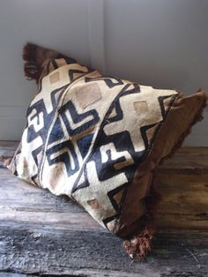 love this..., the natural dyes, textiles & stitching are all hand-made, African pillow....