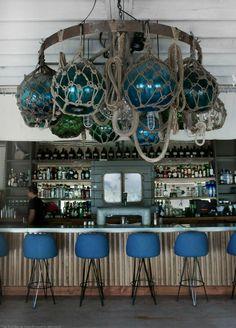 Nautical Restaurant - Seaside Aesthetic - Mid Century | Boat decor ...
