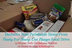 Participate in the Stamp Out Hunger food drive on May 9, 2015, and declutter your pantry at the same time! {more information on Home Storage Solutions 101}