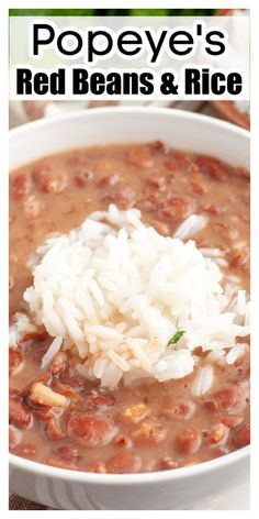 Rice Recipes For Dinner, Easy Rice Recipes, Bean Recipes, Copycat Recipes, Side Dish Recipes, Side Dishes, Sweets Recipes, Delicious Recipes, Popeyes Red Beans And Rice Recipe