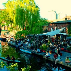 #Berlin Beach Bars - Club der Visionaere, is a rustic and understated spot in Kreuzberg near Treptower Park. No classic beach bar with a beach, but for all party animals Electrolovers a must.  Directly in Kreuzberg on the channel. It sits on a canal in a small brick building, with a dance floor downstairs. You can relax with a good beer and live music from a DJ!... More Info @ http://www.berlinforbackpacker.com